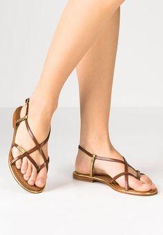 Fantastico sandalo infradito piatto cuoio e oro Monaco di Les Tropeziennes...  acquistalo su www.calzaveste.it! b4fb3eb15f61