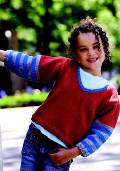 Stripe Sleeve V Neck Sweater for Kids