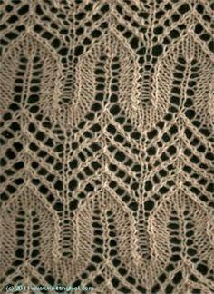 Horseshoe Lace 2 - Knittingfool Stitch Detail