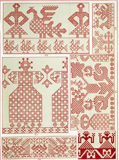 present & correct Russian Embroidery, Blackwork Embroidery, Embroidery Applique, Embroidery Patterns, Loom Patterns, Textures Patterns, Cross Stitch Patterns, Bordado Popular, Form Crochet