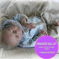 "REBORN KIT ~ Soft Vinyl doll kit to make your own baby~ ""Ben"" Unpainted kit"