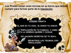 Aventuras piratas Esther Garcia, Education, Children's Magazines, Sentences, Pirate Code, Pirate Preschool, Treasure Island, Outdoor Games, Teaching