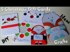 5 Christmas & New Year Gift Cards Ideas - Easy & Affordable Presents - DIY Paper Crafts