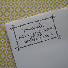 Lettering - Michele Handwritten Address Stamp your choice of selfinking or red rubber – Lettering Letter Addressing, Addressing Envelopes, Mail Art Envelopes, Cute Envelopes, Handwritten Letters, Monogram Fonts, Free Monogram, Monogram Letters, Wood Letters