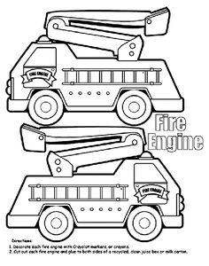 fire truck coloring page firetrucks pinterest fire trucks