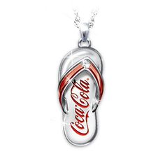 Shop The Bradford Exchange for Coca-Cola Diamond Flip Flop Pendant Necklace. Take a walk on the Coke® Side of Life™ and add some fun in every step of your day. A stunning Coca-Cola® diamond engraved pendant necklace makes a sparkling addition to your. Tupperware, Coca Cola Decor, Cocoa Cola, Coca Cola Christmas, Always Coca Cola, World Of Coca Cola, Vintage Coke, Long Pendant Necklace, Red Necklace