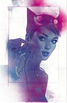 Catwoman variant cover by Ben Oliver * Catwoman Cosplay, Cosplay Gatúbela, Batman Und Catwoman, Batman Art, Dc Comics Art, Fun Comics, Marvel Comics, Ben Oliver, Chica Fantasy