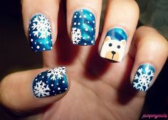 Christmas nails - 65 Cute Christmas Nails <3 <3