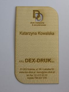 We use the latest technology to produce our MAPLE Dex Druk Business Card for your business. info@dex-druk.pl