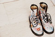 Image discovered by Find images and videos about fashion, shoes and flowers on We Heart It - the app to get lost in what you love. Happy Shoes, Funky Shoes, My Youth, Doc Martens Oxfords, Fashion Shoes, Oxford Shoes, Vans, Sneakers, Shoe Shoe