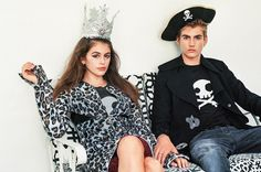Kaia Gerber and her brother