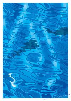 Shinmura fisheries poster. water ripple & fish on Behance. Copyright(C)Hiroyuki Yamada.All Right Reserved.