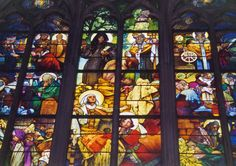 Photo by *Zig* of the Mucha-designed stained glass in St. Vitus Cathedral in Prague