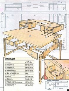 #2016 Santa Fe Style Desk Plans - Furniture Plans