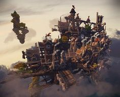 CloudHaven – The Floating City Minecraft World Save