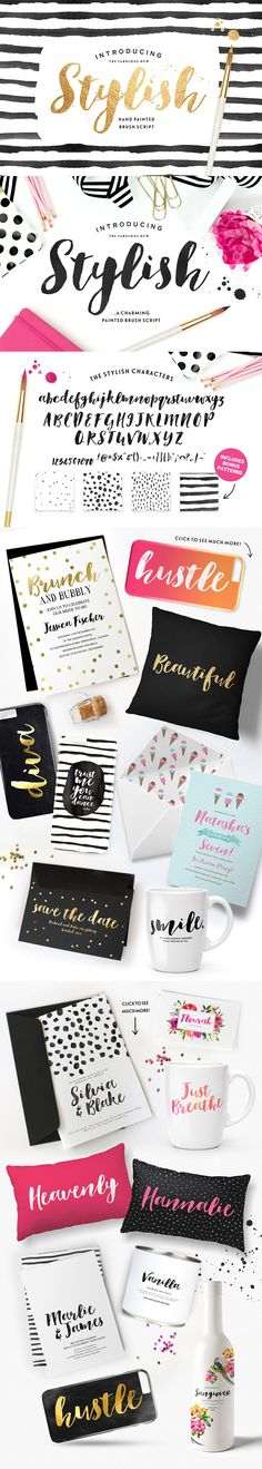 New Fashion Poster Ideas Fonts Ideas Pretty Fonts, Beautiful Fonts, Brush Font, Brush Lettering, Mood And Tone, Brand Fonts, Wedding Fonts, Music Logo, Learning Letters
