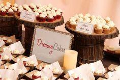 wedding cake bites, wedding cupcakes