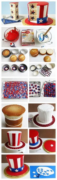 This Uncle Sam reveal cake would make a great centerpiece for your 4th of July gathering!
