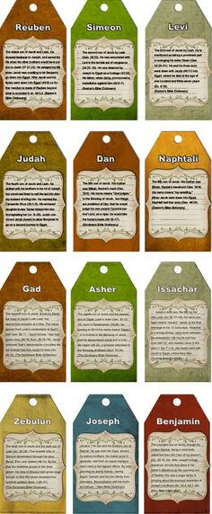 Patriarch Lesson: Joseph and his Brothers, 12 Tribes of Israel