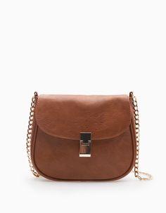 Мини-сумка с плечевым ремнем и цепочкой