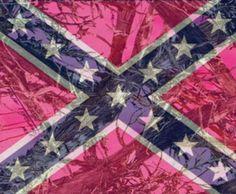 Pink camo rebel flag