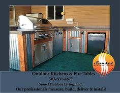 Custom outdoor kitchen in Vancouver, Washington delivered and installed Friday!  We custom build for any grill or any area!  Call today for your custom quote  503-831-4677 Sunset Outdoor Living, LLC.