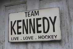 Custom Family Sports sign Team Hockey Sign by CouldCHuckWoodDesign