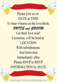Wedding invitation wording the one fab day guide stopboris Choice Image