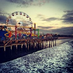 Santa Monica Pier Big Ferris Wheel #Route66, could have been the inspiration for the Big Ferris Wheel, in Disneyland California Adventure.