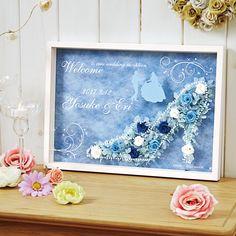 ウェルカムボード シンデレラ プリザードフラワー /ディズニー, 木下優樹菜 おしゃれ かわいい プレゼント ギフト Welcome Boards, Pop Up, Cinderella, Happy Birthday, Frame, Flowers, Handmade, Gifts, Wedding