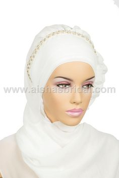 Ready To Wear Hijab  Code HT0141 by HAZIRTURBAN on Etsy, $31.00 Muslim Brides, Muslim Women, Muslim Fashion, Hijab Fashion, Wedding Hijab Styles, Turban Hijab, Muslim Beauty, Bridal Hijab, Islamic Clothing