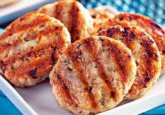 Hambúrguer de frango com  aveia