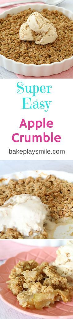 This is by far the best Apple Crumble recipe - the crumble is so crunchy and delicious! And it's SO easy!!