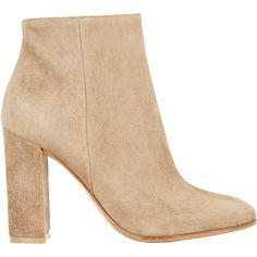 Gianvito Rossi Suede Side-Zip Ankle Boots (22 180 UAH) ❤ liked on Polyvore featuring shoes, boots, ankle booties, ankle boots, heels, sapatos, nude, high heel ankle boots, nude ankle boots and high heel booties