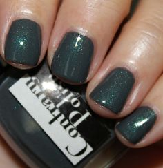 "Contrary Polish ""Better Together"" - smoky deep blue/grey base with turquoise/silver shimmer"
