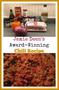 Delicious recipes -- Jamie Deen's Chili Recipe with beef, sausage, and bacon! Looking for an award-winning, 5 star homemade chili recipe? Heres Jamie Deens homemade chili with beer -- the best chili with Italian sausage and ground beef we have ever had! Beef Chili Recipe, Chilli Recipes, Beef Recipes, Cooking Recipes, Recipies, Paula Deens Chili Recipe, Large Chili Recipe, Paula Deen Jambalaya Recipe, Super Bowl Chili Recipe