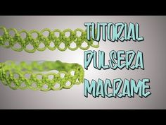tutorial pulsera macramé cavandoli doble - YouTube