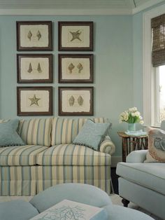 Traditional Palette - 20 Coastal-Inspired Living Rooms on HGTV