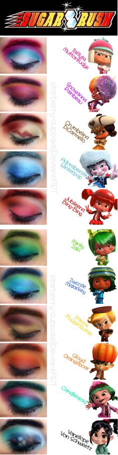 Sugar Rush Inspired Make Up by ~StarberryCupcake on deviantART