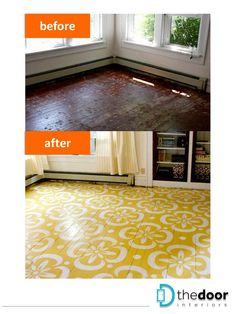 Creative makeover of a wooden floor: http://on.fb.me/1ovQwVF