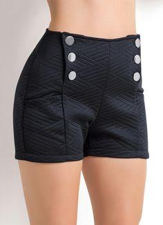Sgarbi Store | Short cintura alta com botões