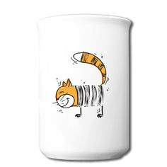 The Cute Cat Bone Mug No Minimums-Animals & Nature  Accessories with 100% pre-cotton shirts with expert online help. Print your own shirt with custom text, designs or photos.