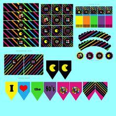 Editables totalmente 80 paquete fiesta Kit por PutOnYourPartyCap