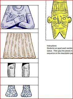 nebuchadnezzar's+statue,+crafts | Build a Nebuchadnezzar statue -- pdf