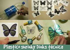 430 Tutoriales e Ideas Tecnica Plastico Shrinky Dinks - enrHedando
