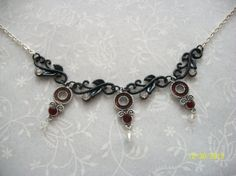 Swarovski Crystal Black Vine Necklace with by DysfunctionalAries, $28.00