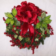 A.C. Moore Holiday Bow & Berries Wreath