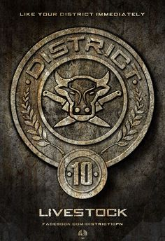 The Hunger Games (2012) Movie District 10 Emblem Poster