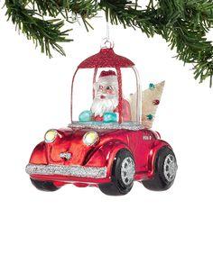 Santa Car Ornament