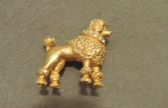 Beautiful Signed Hattie Carnegie Poodle Pin with Rhinestones 1950s by thejeweledbear on Etsy